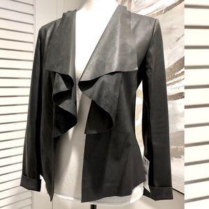 Zara Black vegan jacket blazer